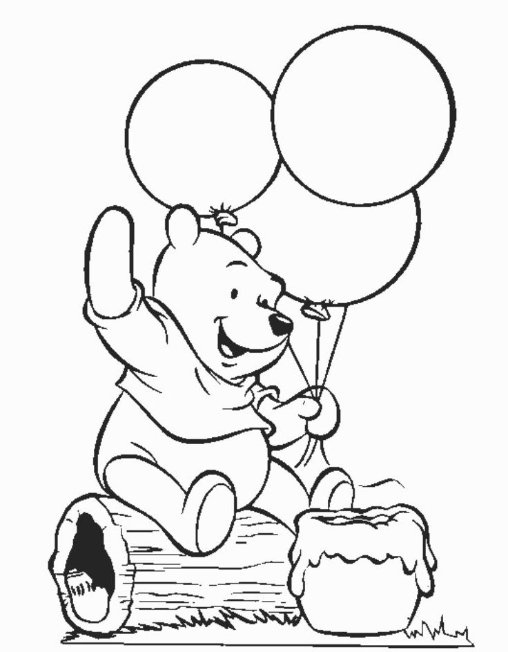 Perfect Winnie The Pooh Printable Coloring Pages 36 In Image With