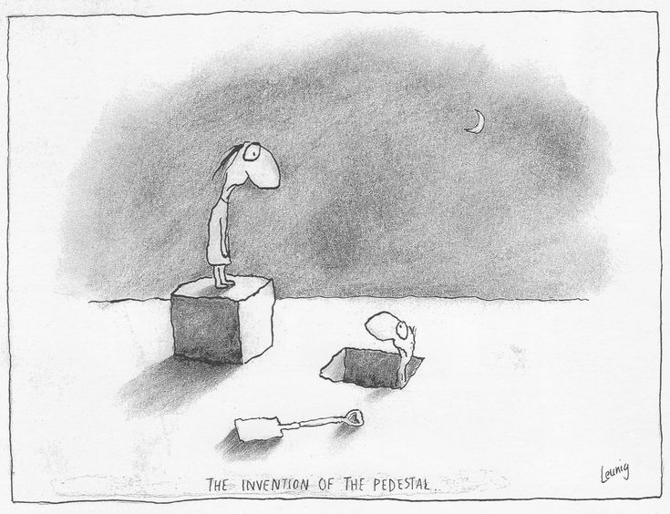 The invention of the pedestal