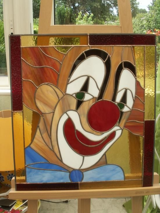 clown en vitrail tiffany - Recherche Google
