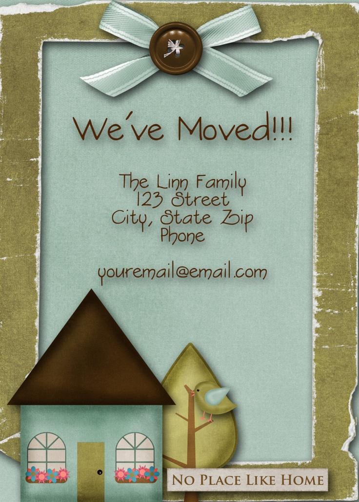 we've moved card idea