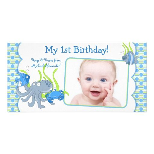 Personalised Boys First Birthday Card Bubbles By August: 1000+ Images About Ocean Themed Birthday Ideas On