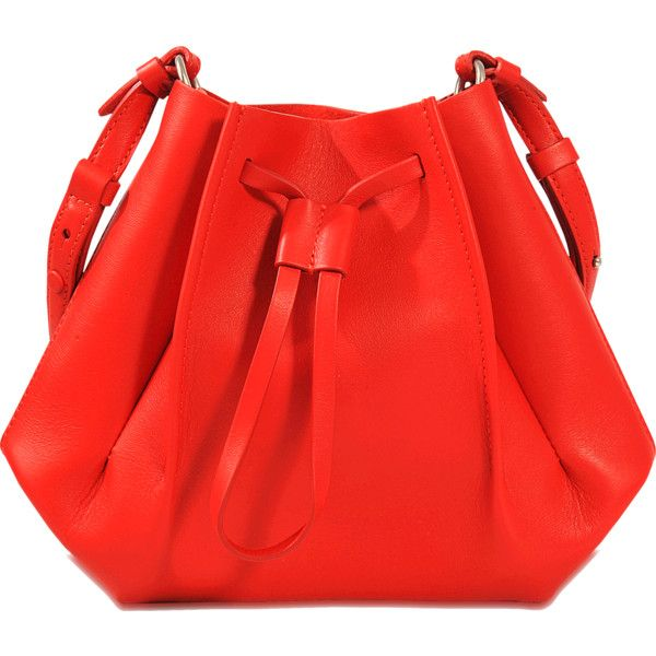 Maison Margiela Bucket Bag Mini ($970) ❤ liked on Polyvore featuring bags, handbags, shoulder bags, red, maison margiela, miniature purse, bucket bag, mini shoulder bag and red bucket bag