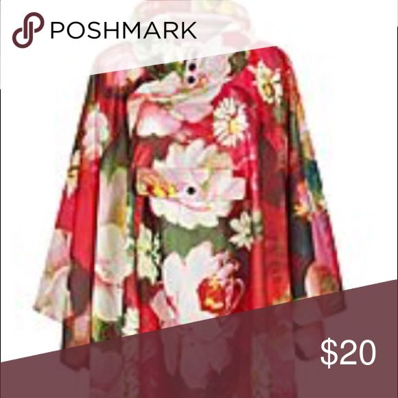Festival Poncho NWOT never worn. Fashionable rain poncho perfect for outdoor events! Could fit a 12, 14, or 16. Joe Browns Other