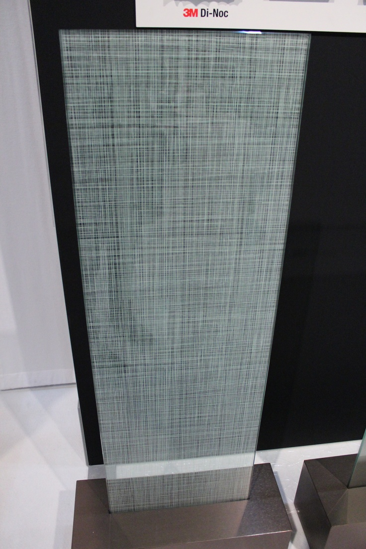 Patterned film on glass surfaces.
