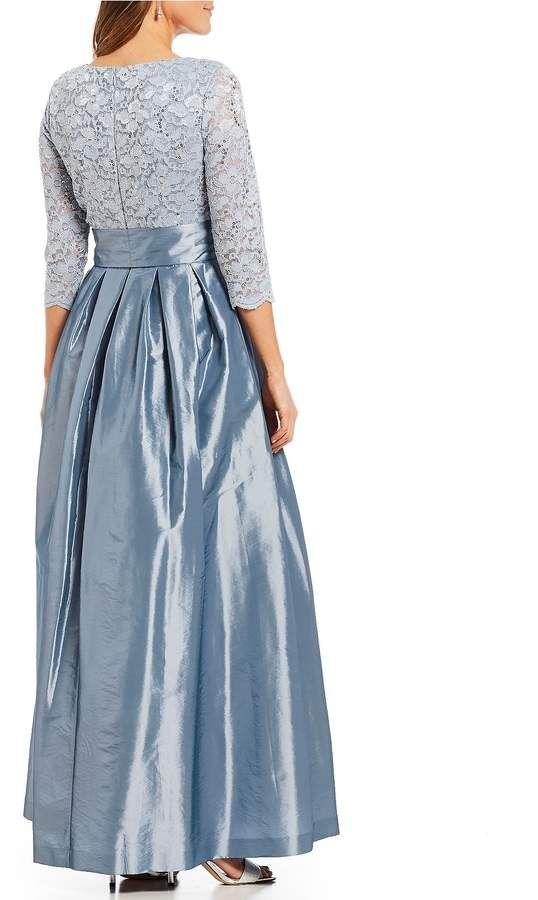 53e8b3039f12 Jessica Howard Lace Bodice Bow Tie Front Gown #Lace#Bodice#Jessica ...