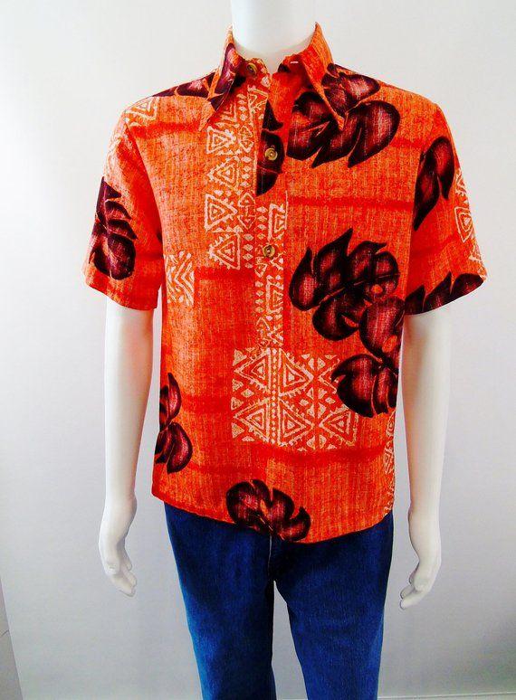 6402655edfb Malihini Hawaii Pullover Hawaiian Aloha Shirt Vintage 1960s ...