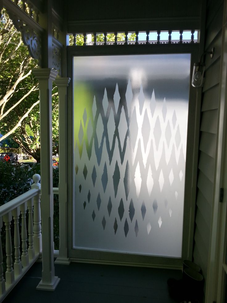 Sandblasted design onto textured glass @ Glassarts Design Auckland