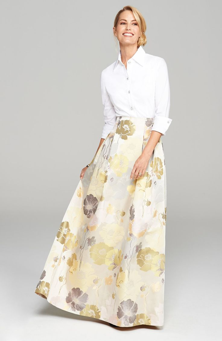 Eliza J Blouse & Ball Skirt