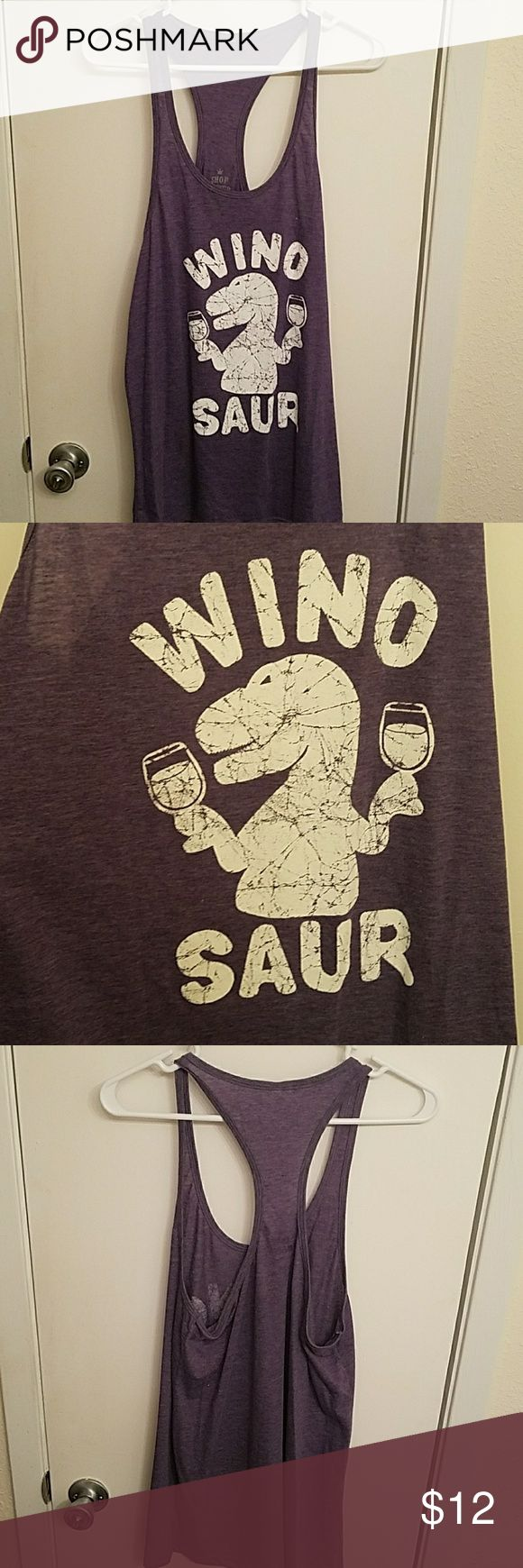 Wino saur razor back tank Super fun and comfy. Never worn.  Fits like an XL not XXL shop 4 ever Tops Tank Tops