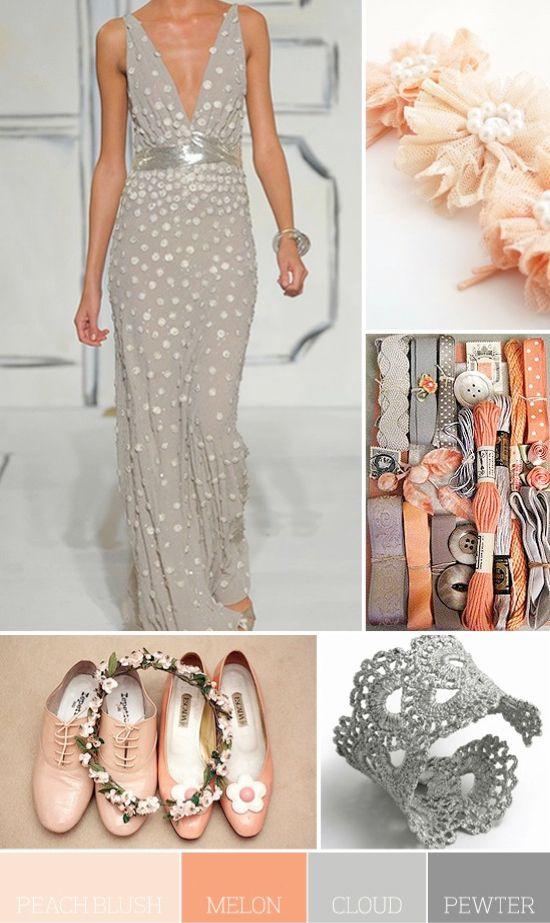 Peach & Grey color combo!