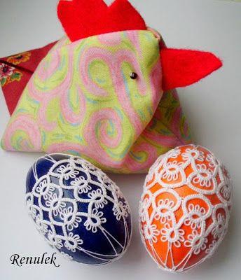 Frywolitki, Tatting, Chiacchierino: wiosna czyli robimy sobie jaja