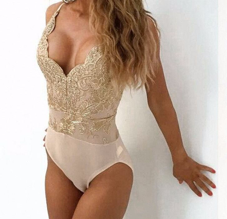 Anika Front Detailed Bodysuit - Apply code DREAM10 for 10% off + Free Shipping! #gold #bodysuits