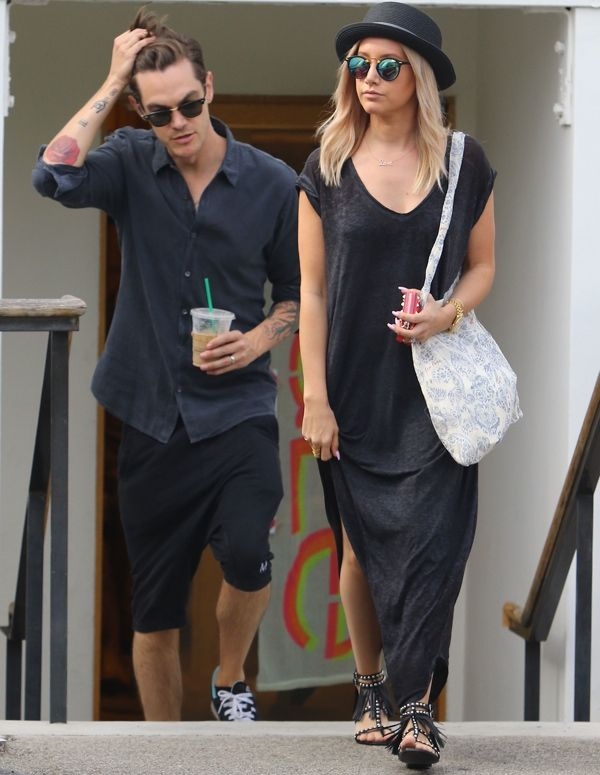 Ashley Tisdale Drags Husband Out Shopping Today, Both Look Miserable - http://oceanup.com/2015/06/28/ashley-tisdale-drags-husband-out-shopping-today-both-look-miserable/