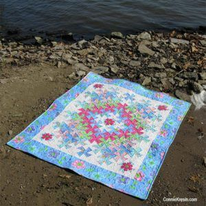 Worldly Lil Twister Quilt - an Easy Baby Quilt Pattern