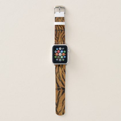 Tiger Fur Apple Watch Band - animal gift ideas animals and pets diy customize