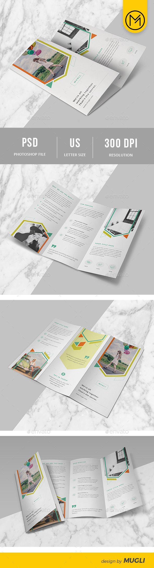 Best Best TriFold Brochure Designs Images On