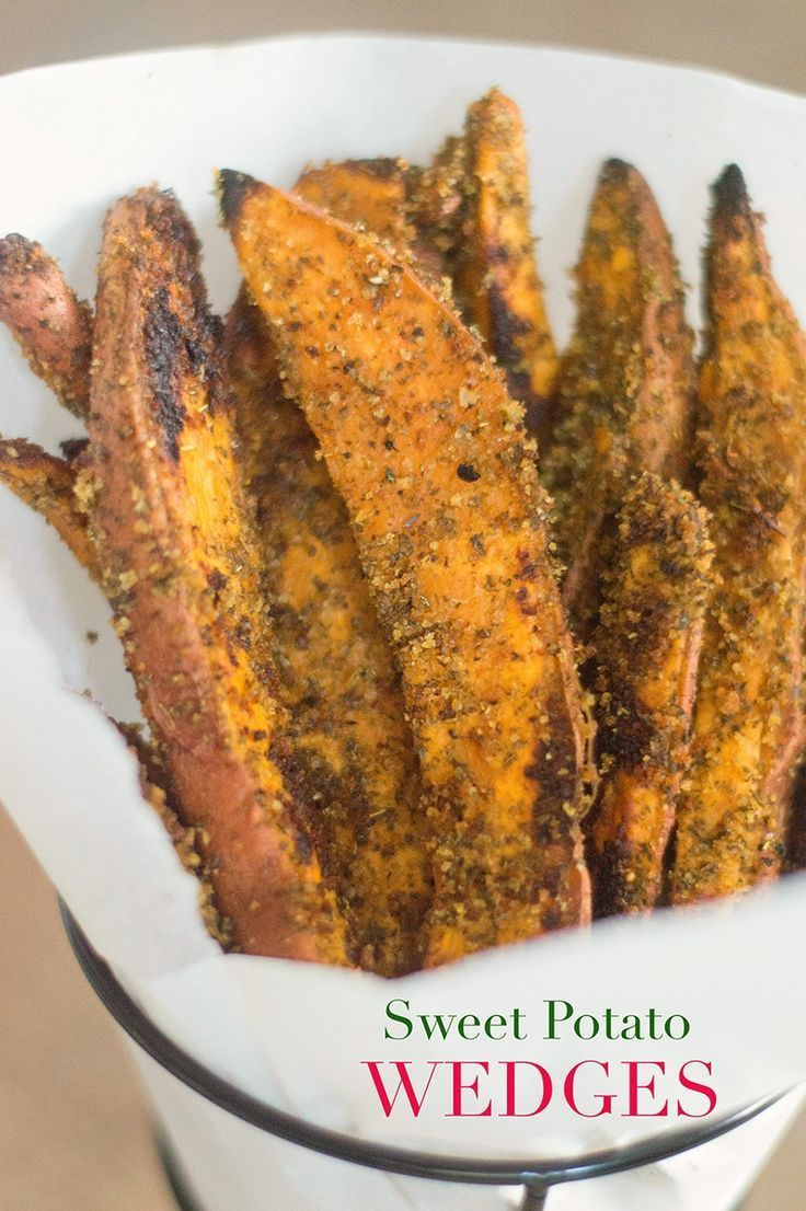 This vegan sweet potato wedge recipe is quick and easy to make. It takes only 5 ingredients and they are perfect enjoyed as a side dish or savory snack.