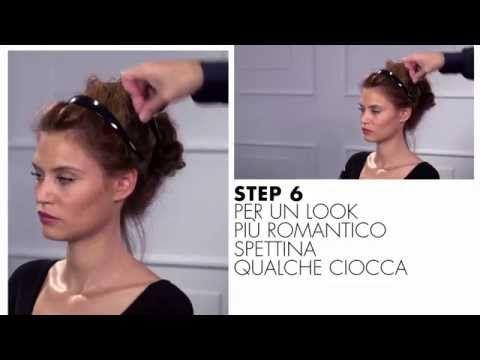 Tutorial capelli: come fare lo chignon spettinato - YouTube