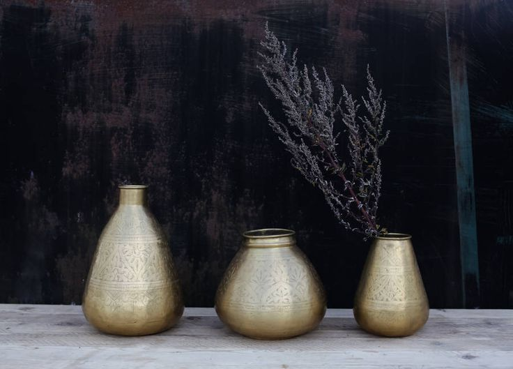I've just found Nami Brass Pot. Nkuku's beautiful Nami pots are handmade from solid brass.. £49.95
