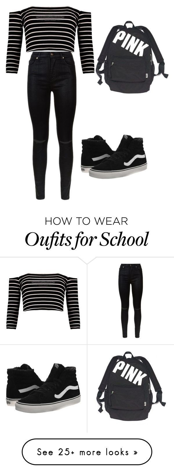 for school:)) by miskolci-andrea on Polyvore featuring 7 For All Mankind, Vans and Victorias Secret