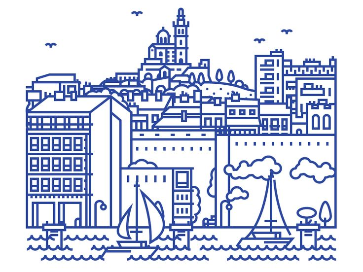 Marseille (Animated + Poster) by lucas marinm
