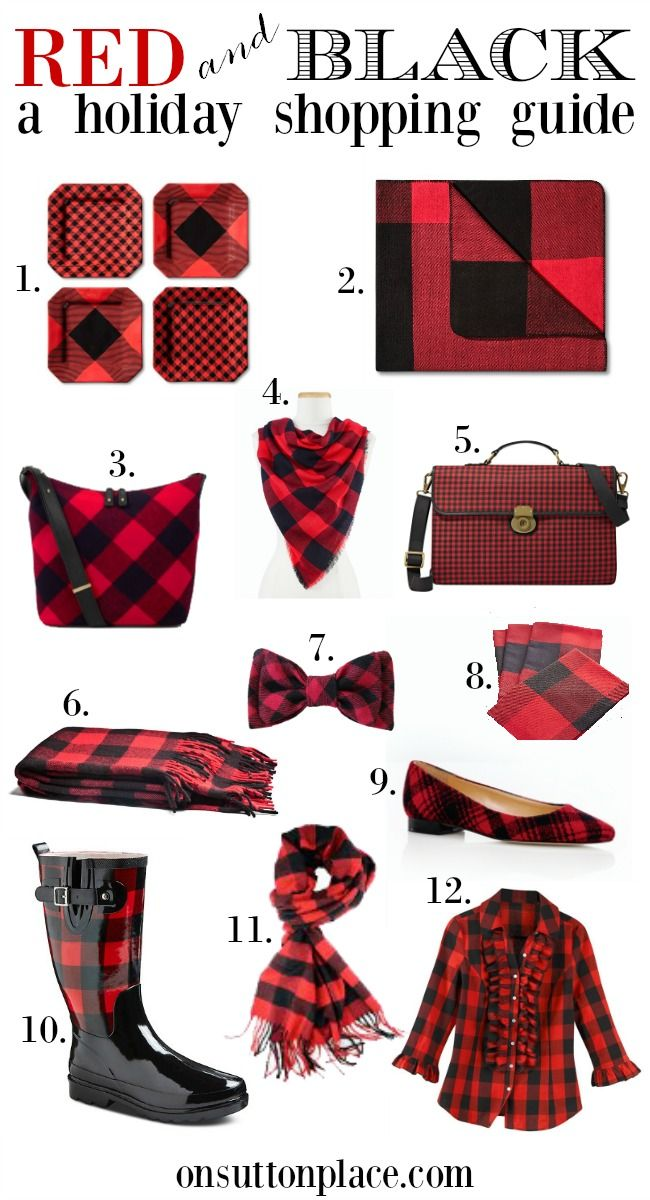 Red and Black Buffalo Plaid   A Holiday Shopping Guide from On Sutton Place   Easy links to all these items included!