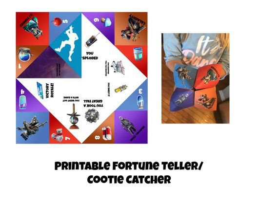 Fortnite Fortune Teller Or Cootie Catcher Printable Craft