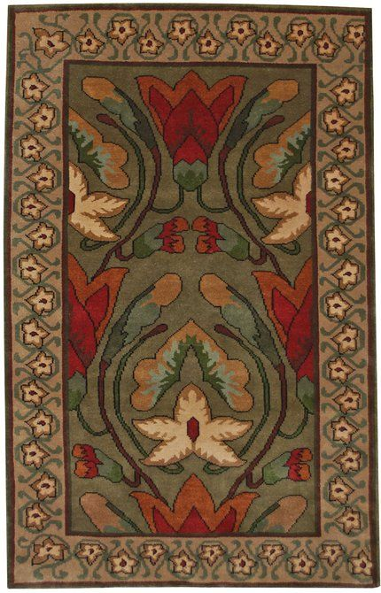 711 best craftsman rugs images on pinterest craftsman for Arts and crafts style rug