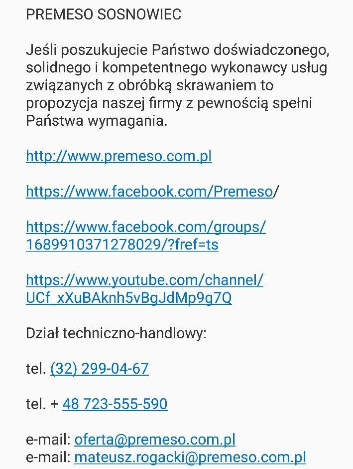 PREMESO  Precyzyjna obróbka skrawaniem  Sosnowiec Ul.Grota Roweckiego 130