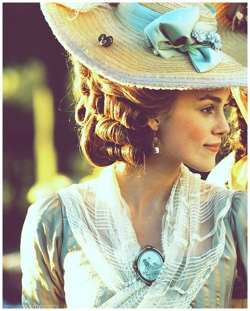 The story in the movie is so depressing, but The Duchess is a wonderful movie and the costumes are to die for.
