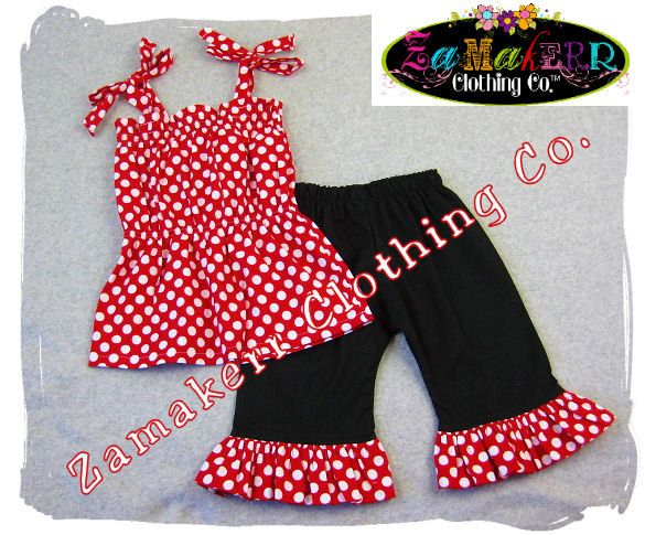 Items similar to Custom Boutique Clothing Red Polka Pillowcase Dress Top Ruffle Pant Bottom Outfit Set 3 6 9 12 18 24 month size 2 3 4 5 6 7 8 on Etsy