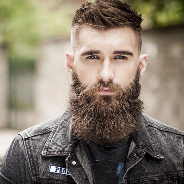 wonderfully thick brown beard and mustache beards bearded man men mens' style bearding #beardsforever