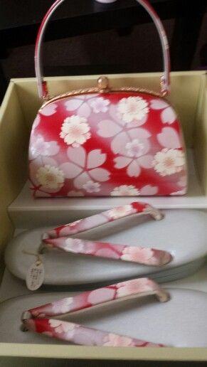 Sakura bag + zori set