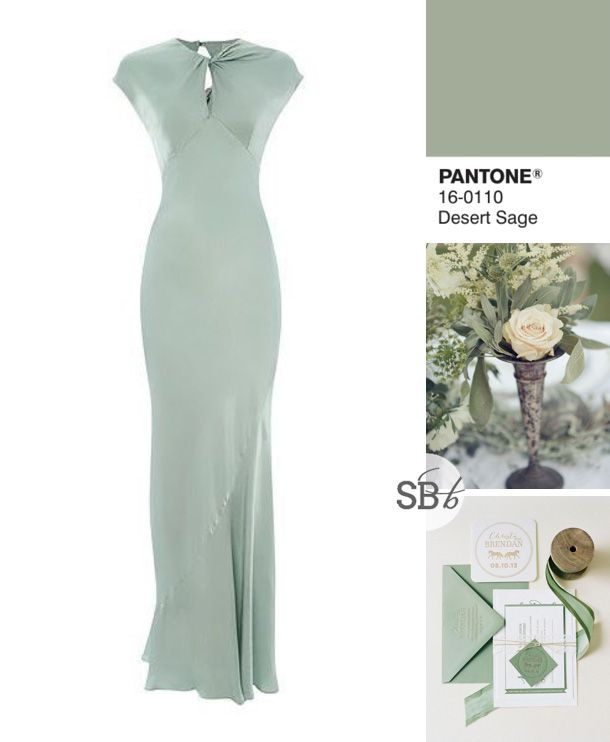 Pantone Fall 2015 Bridesmaid Dress Inspiration: Desert Sage | SouthBound Bride www.southboundbride.com/pantone-fall-2015-bridesmaid-dress-inspiration Image credits: Beaux Arts Photographie // Jodi Miller Photography