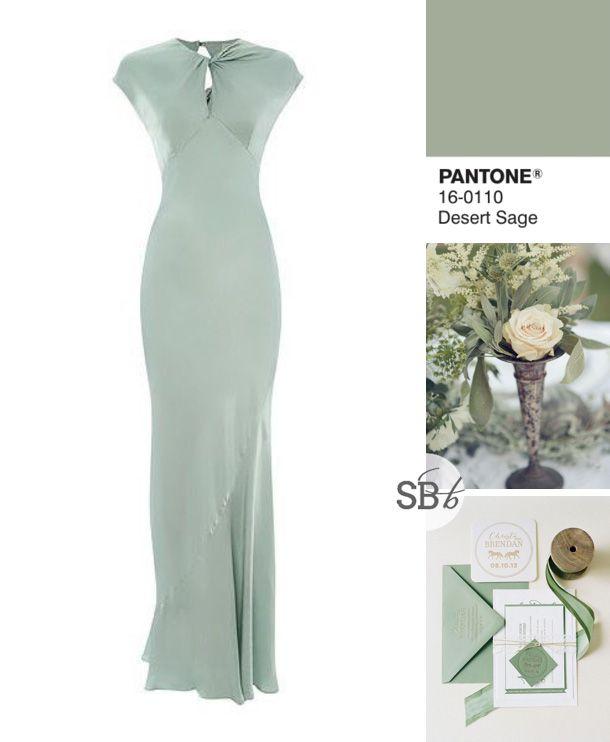 Pantone Fall 2015 Bridesmaid Dress Inspiration: Desert Sage | SouthBound Bride | http://www.southboundbride.com/pantone-fall-2015-bridesmaid-dress-inspiration | Image credits: Beaux Arts Photographie // Jodi Miller Photography