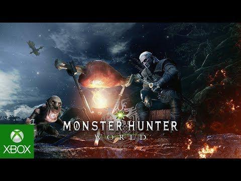 Monster Hunter World X The Witcher 3 Wild Hunt Available Now Monster Hunter World Monster Hunter The Witcher