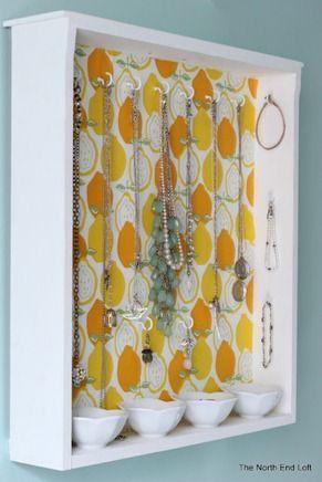 drawer repurposed into jewelry organizer  Evt. Vierkant dienblad vd action hiervoor?