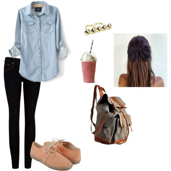 outfit approved! Cute Fall Outfits, Schools Outfit, Colleges First Day ...