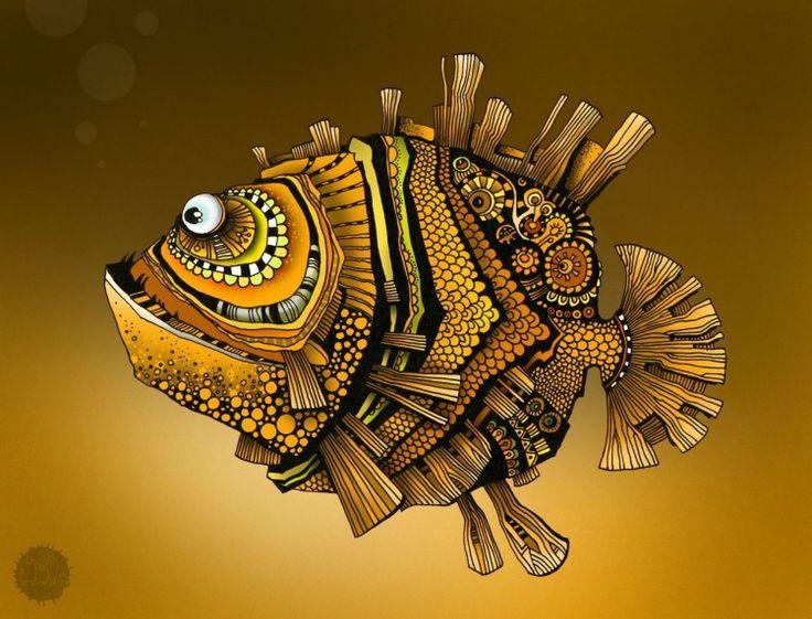 Фигурки рыб – роспись красками и гелевой ручкой. Обсуждение на LiveInternet - Российский Сервис Онлайн-Дневников