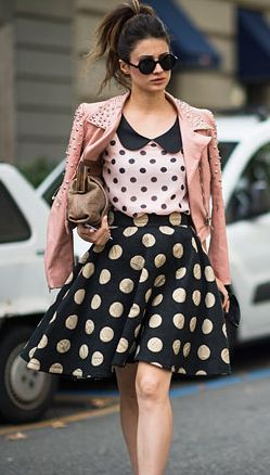 polka dot look