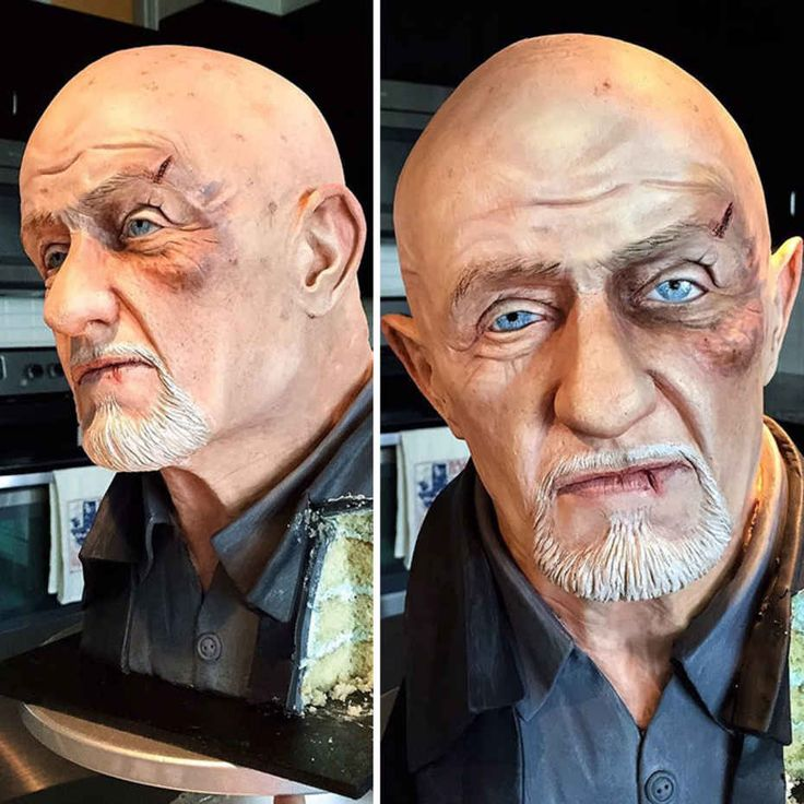 Mike Ehrmantraut From Breaking Bad  Realistic Cakes By Natalie Sideserf.......