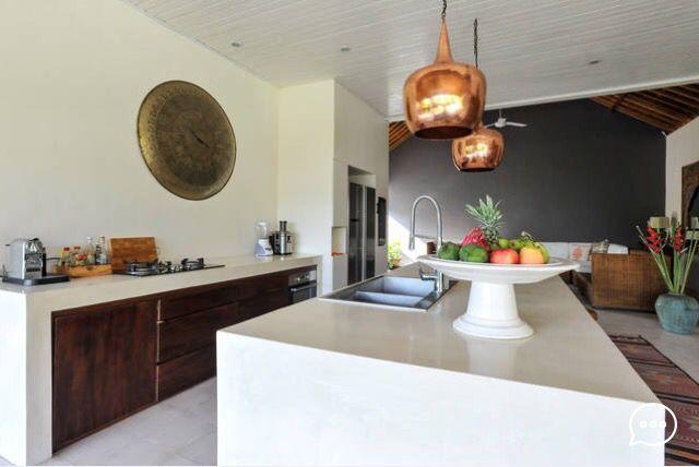 Villa Harmony in Bali. Wood, kitchen classic, bali futures, modern, luxury tropical open living,