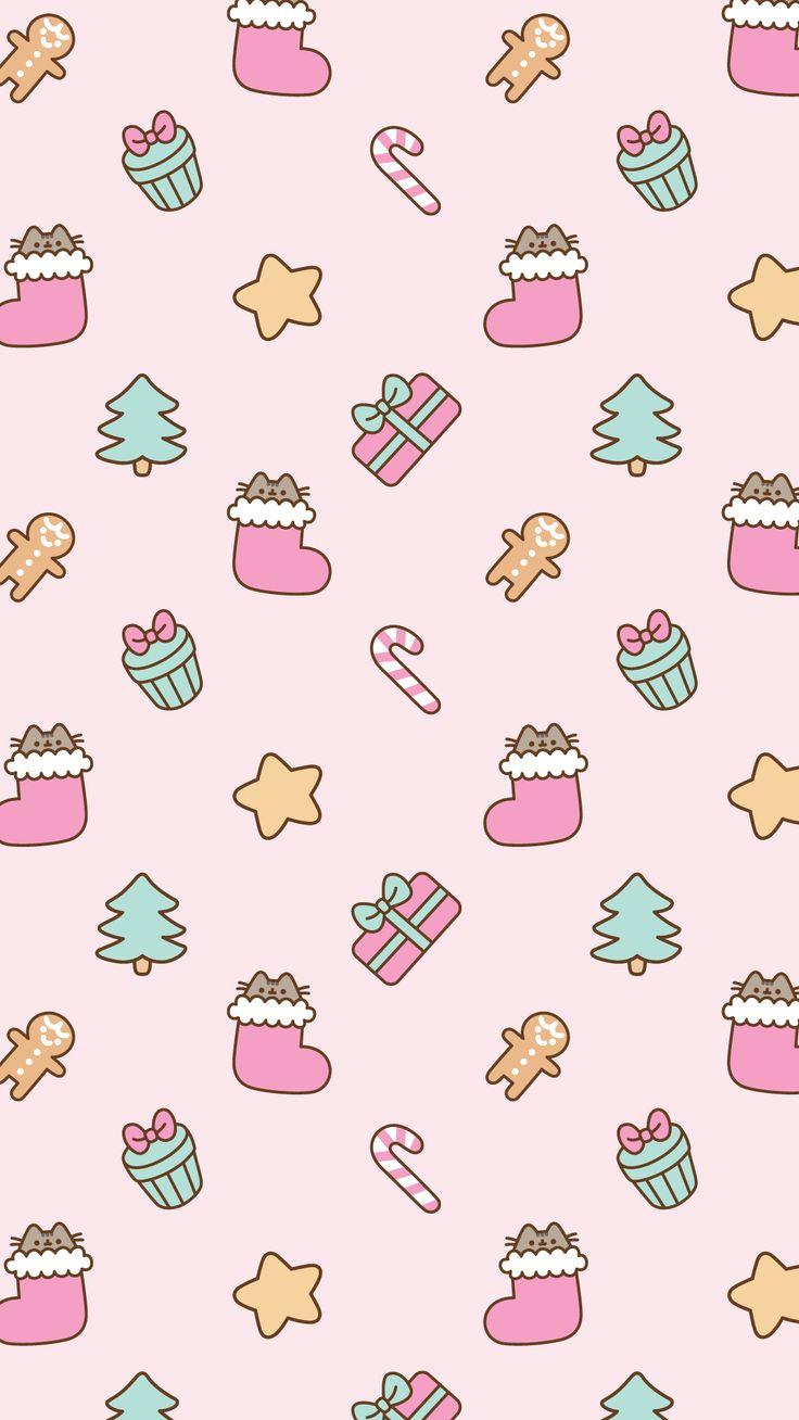 Pusheen Christmas background