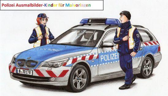 Polizeiauto Ausmalbilder Polizeiautos Polizei Ausmalen