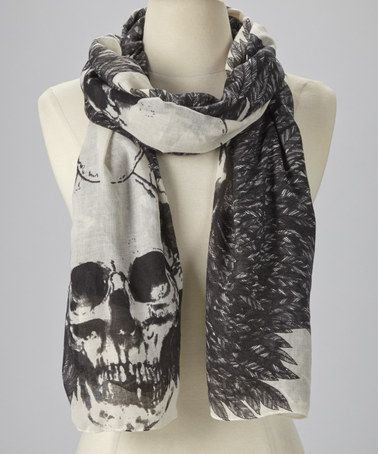 Look what I found on #zulily! Black Winged Skull Scarf #zulilyfinds