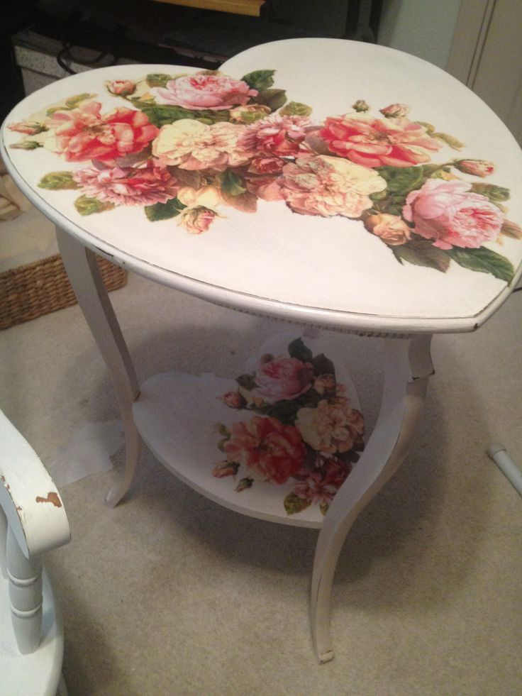 Decoupage Edges Of Table Craft