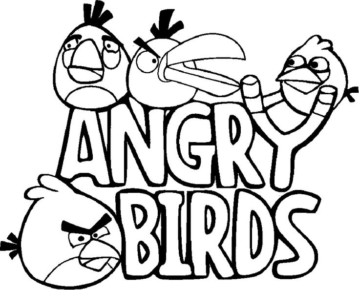 angry birds coloring pages 36 free printable coloring pages coloringpagesfuncom - Colouring In Sheets For Kids