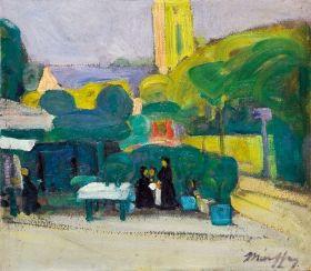 Márffy Ödön - Piactér (Meudon-i részlet), 1906 előtt