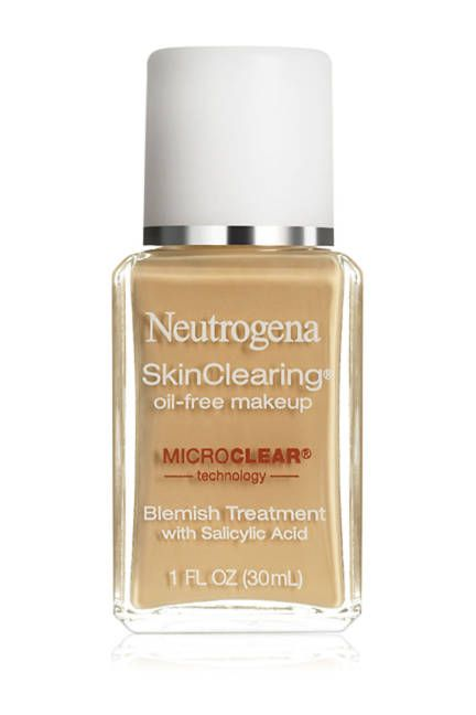 Neutrogena A foundation that not only balances oil, but also treats and prevents blemishes (which often come hand-in-hand with excessively oily skin). Neutrogena SkinClearing Oil-Free Makeup, $13.99Read more: Foundation For Oily Skin - Best Oil-Free Foundations Follow us: @ElleMagazine on Twitter | ellemagazine on Facebook Visit us at ELLE.com