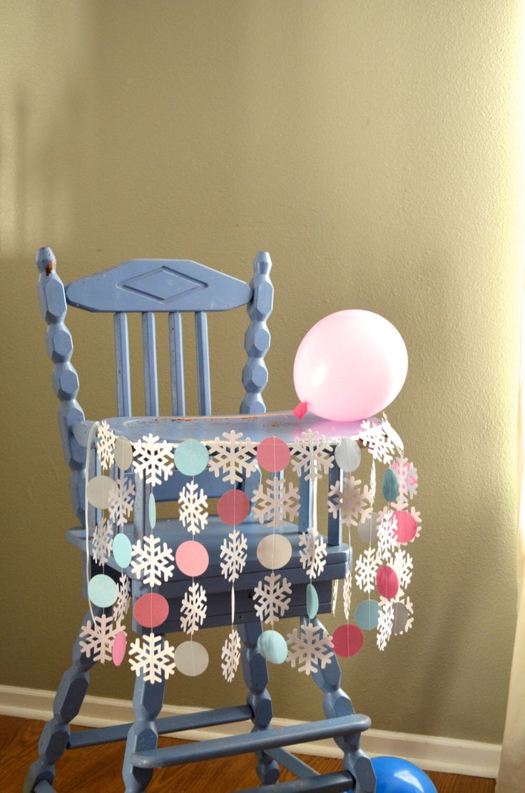 "Winter Wonderland Highchair Birthday Banner - ""Onederland"" shimmery snowflakes and circles for the highchair by thePathLessTraveled on Etsy https://www.etsy.com/listing/212788145/winter-wonderland-highchair-birthday"